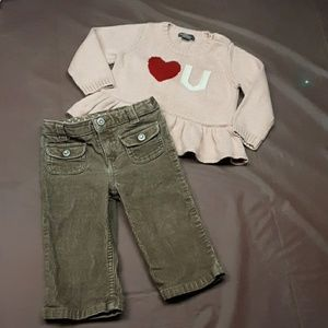5/$25.  2pc. Bundle of 12, 12-18m winter outfit